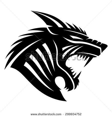 450x470 Vector Sign. Werewolf. Butcher Block Island