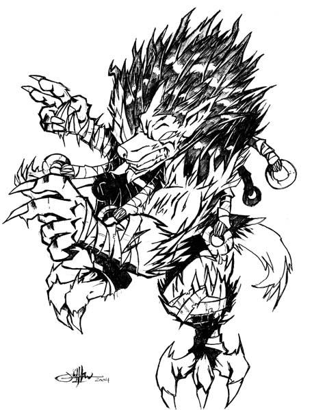 456x598 Warewolf By Deeviousgenius