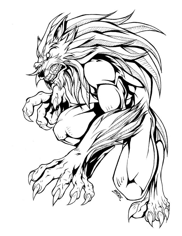 638x825 Werewolf Design By Dovianax
