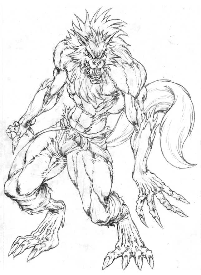644x879 A Fantasy Wolf By Pant