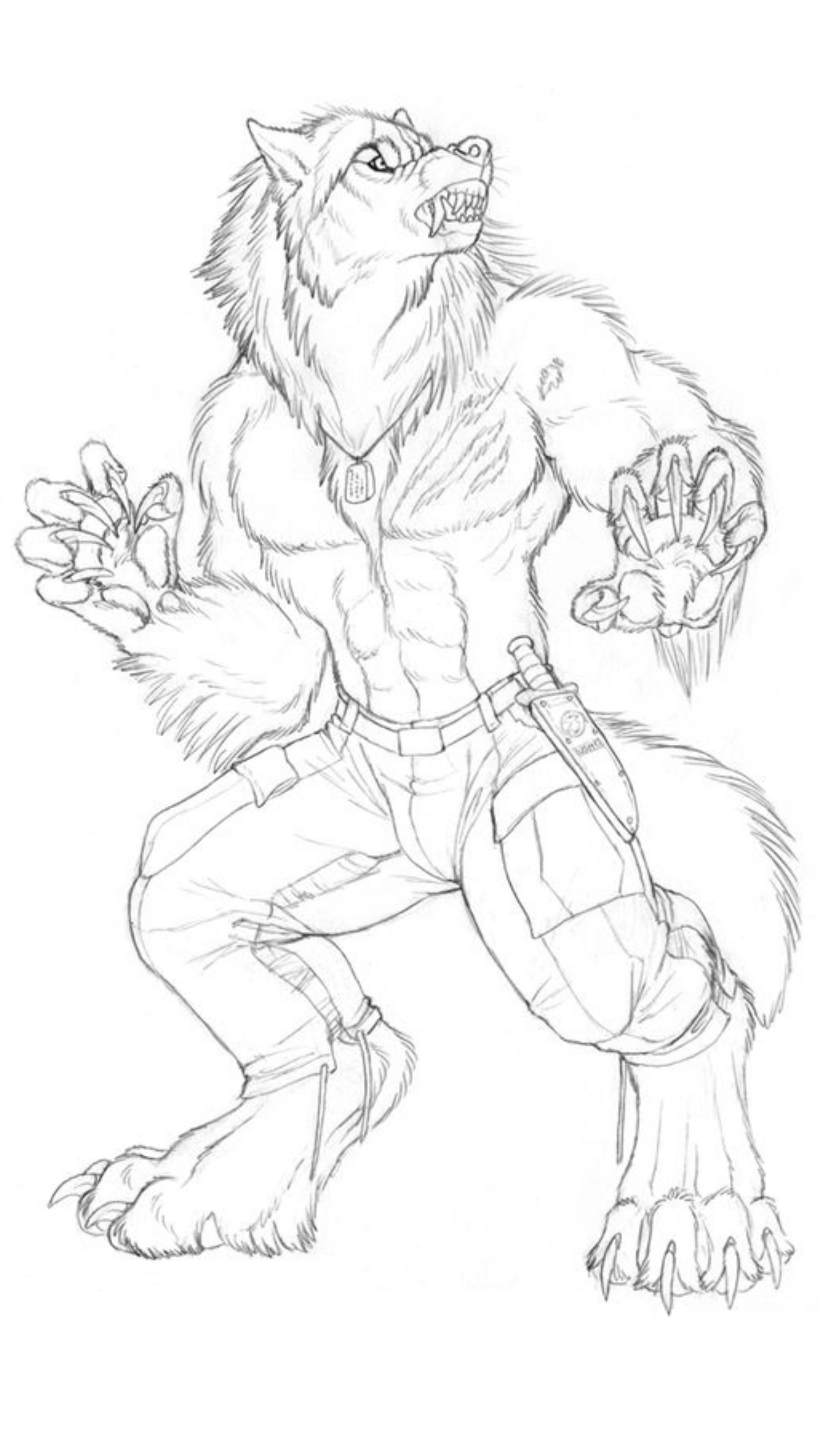 2160x3840 Werewolf Rysunki Werewolves, Wolf And Drawings