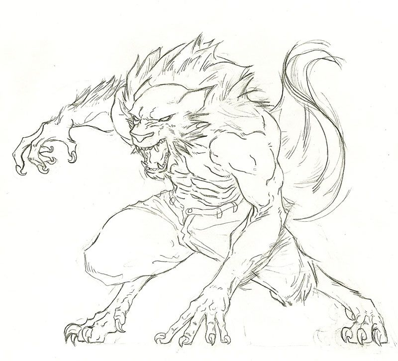 800x726 Werewolf By Dgtrillo Werewolves Werewolves
