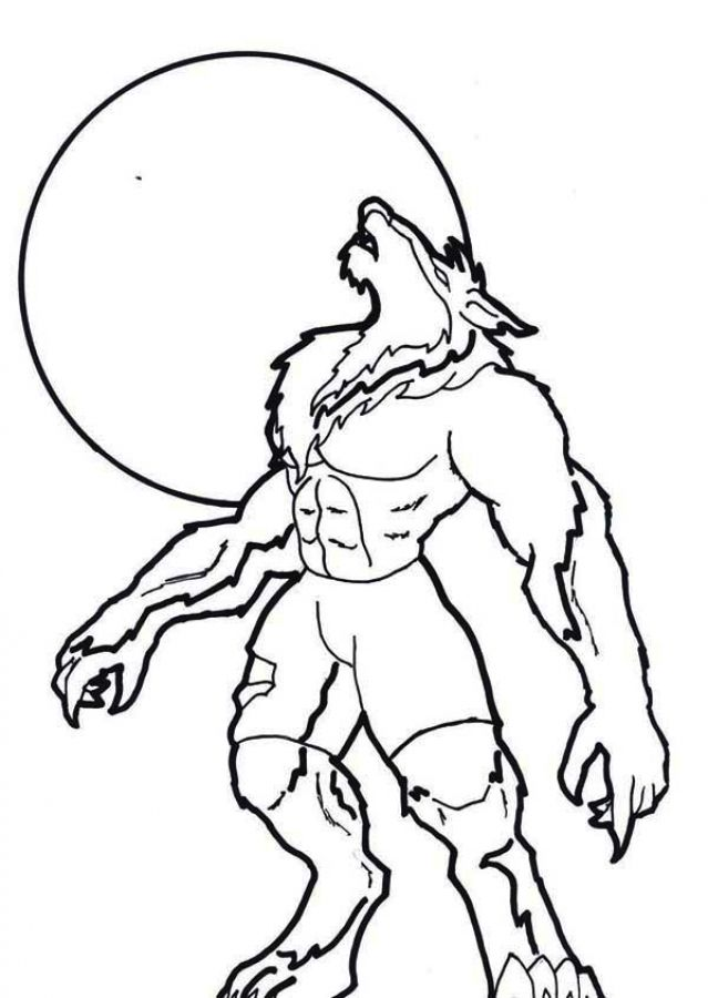 639x900 Easily Werewolf Coloring Pages Amazing 98 On Online