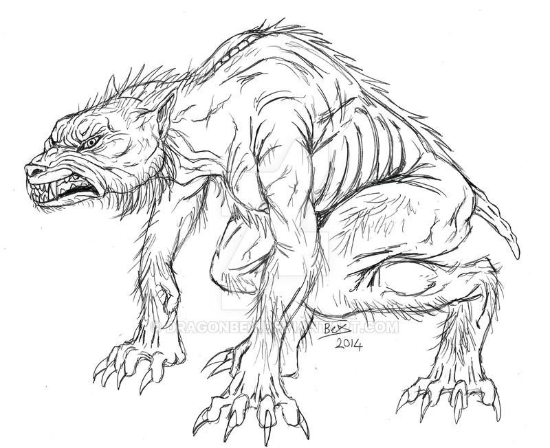 800x652 Ginger Snaps Werewolf Form By Dragonbex