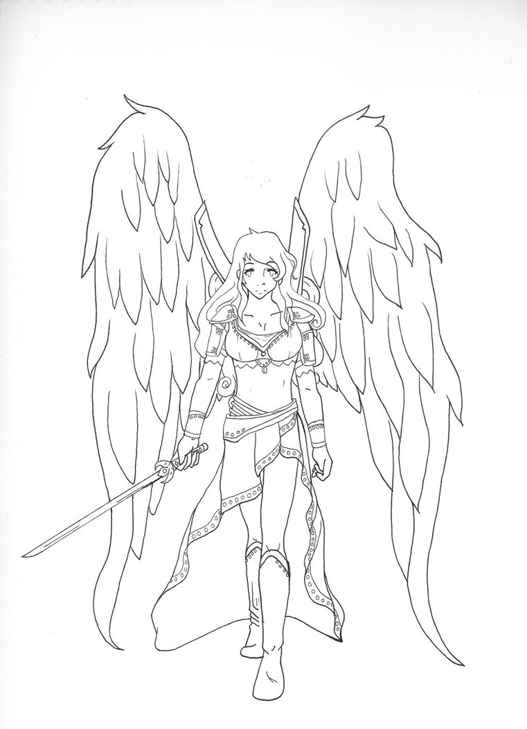 761x1051 Female Angel Warrior By Sinya Chan