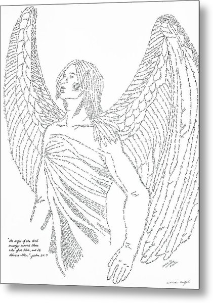 421x600 Mighty Warrior Angel Drawing By Lorraine Foster