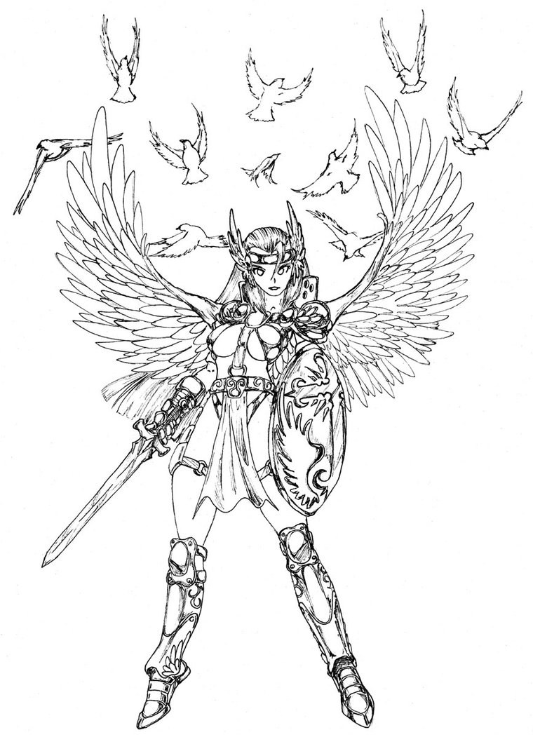 760x1051 Warrior Angel By Stridersyd