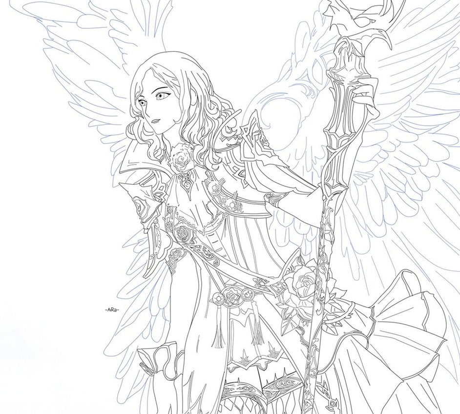942x848 Warrior Fantasy Angel By Aira Yuzuriha