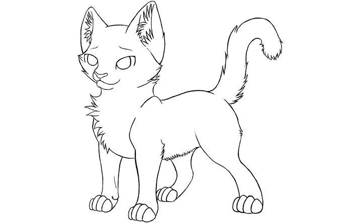 warrior cat drawing at getdrawings  free download