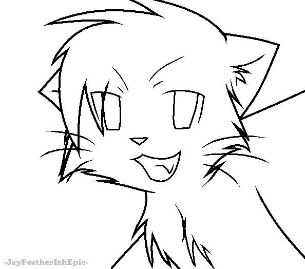 594x524 Warrior Cats Lineart By Jayfeatherishepic