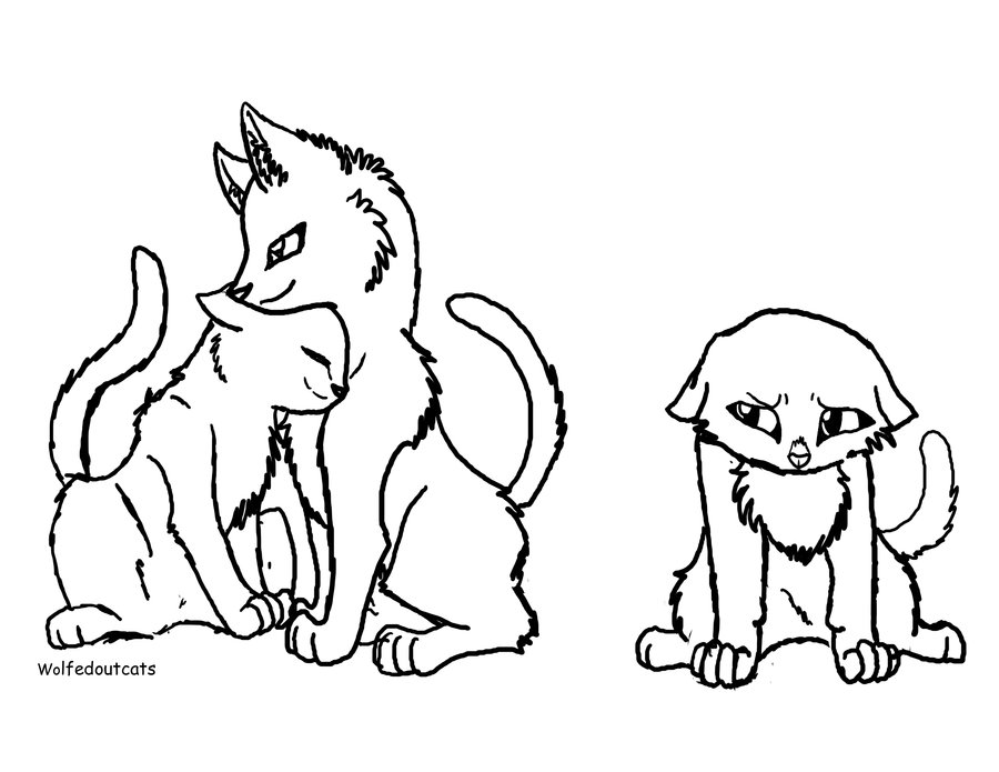 900x695 Warrior Cats Line Art By Wolfedoutcats