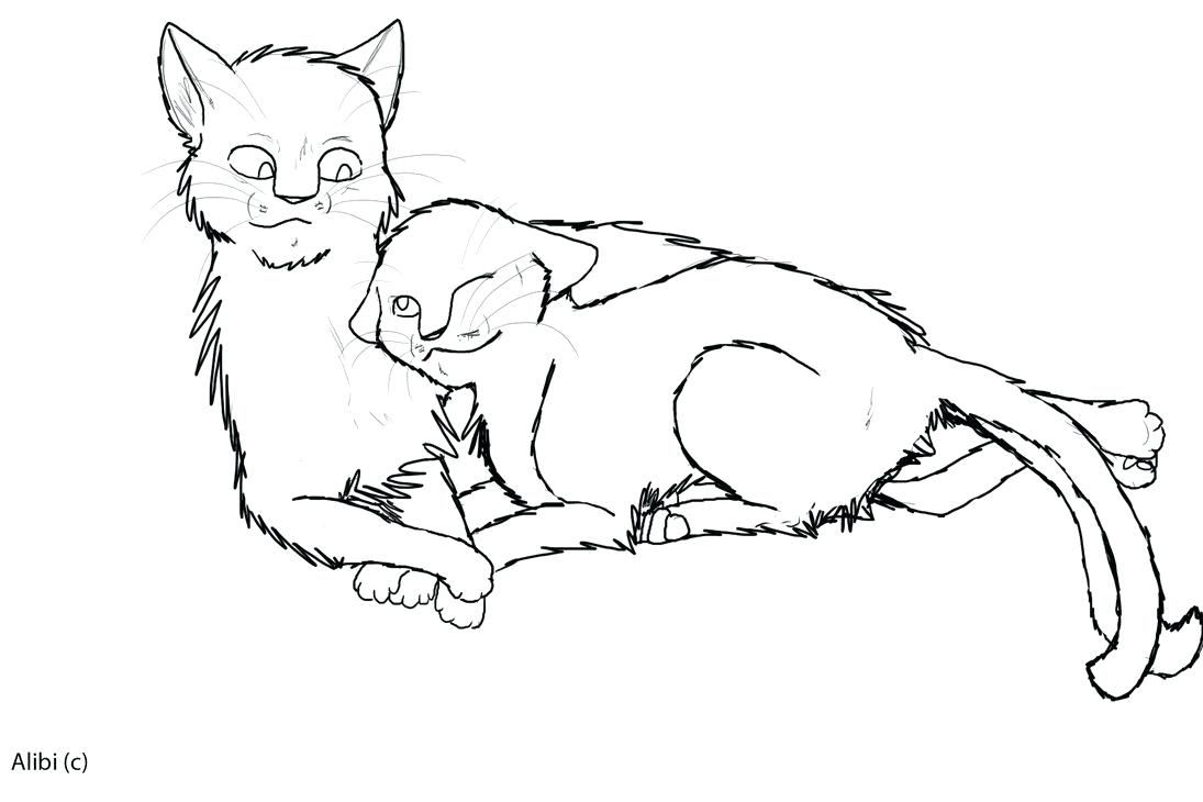 1095x730 Warrior Cat Coloring Pages Kits Big Cats And Size Detailed