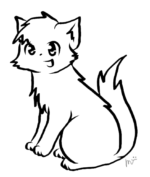 483x567 Warrior Cat Lineart By Ceruleanoasis