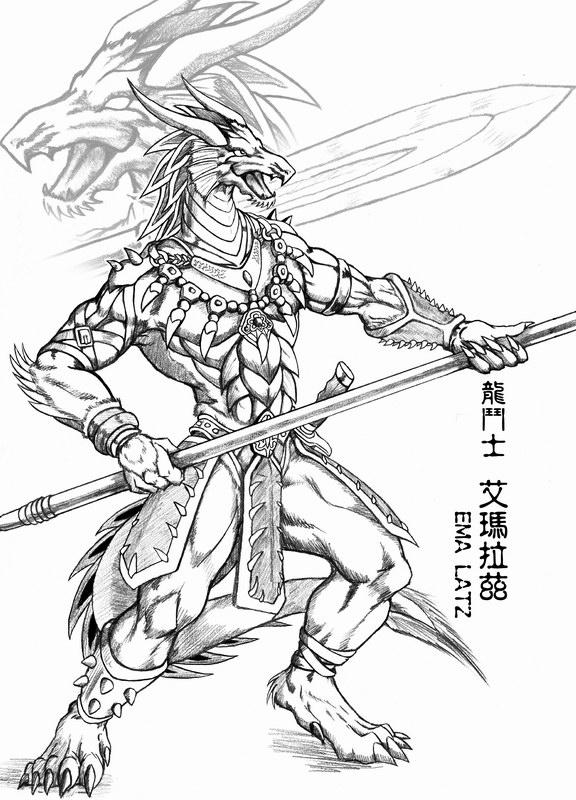 576x800 Dragon Warrior By Wolflsi