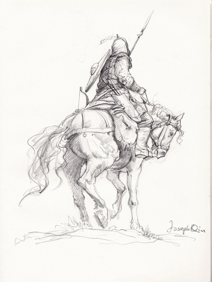 700x932 Horse Warrior Sketch By Josephqiuart