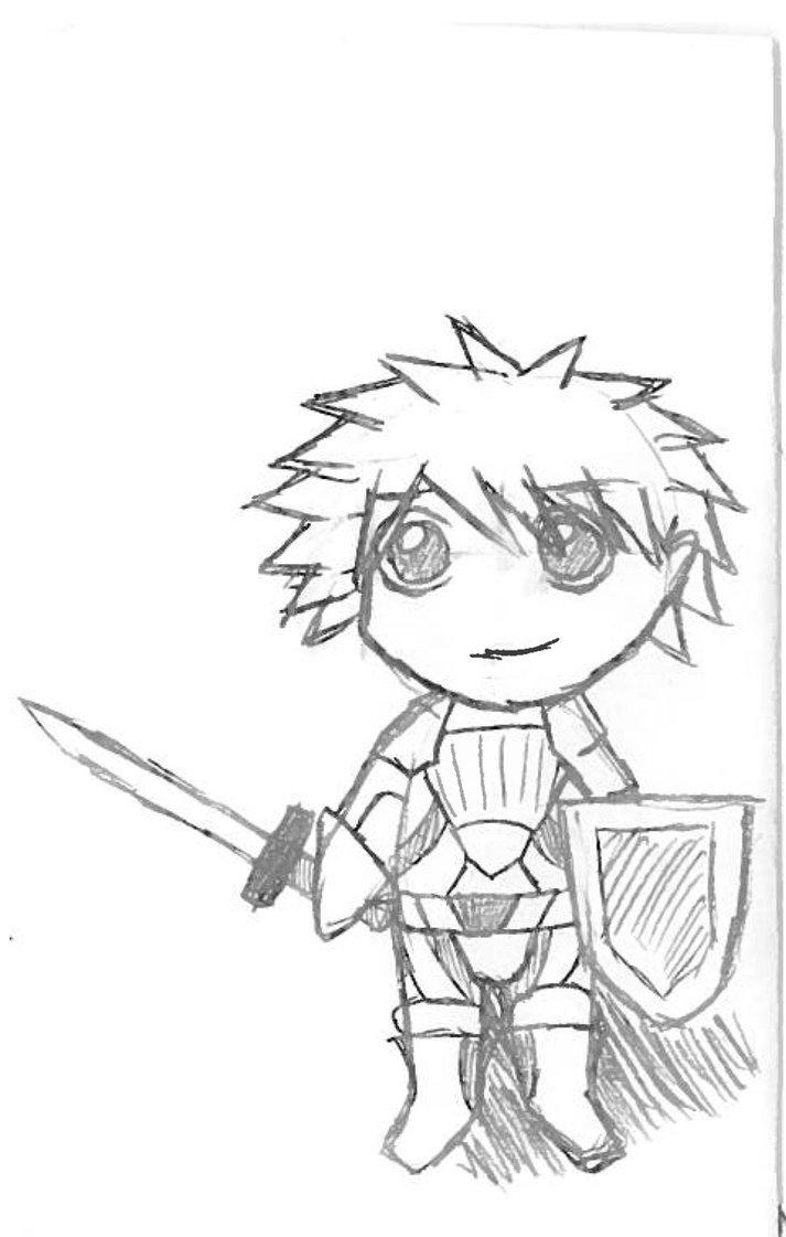 713x1121 Warrior Sketch By Sheepnbeauty