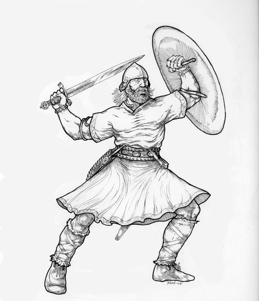 900x1049 Celtic Warrior By Darkroot27 Celts Character