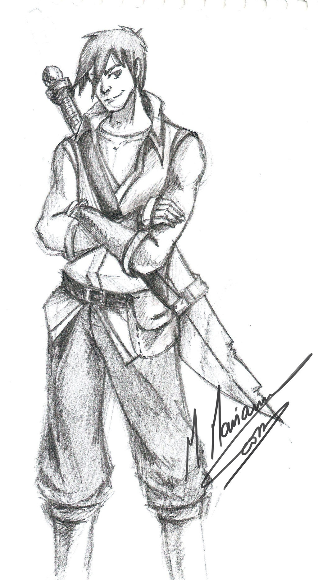 1024x1864 Warrior Sketch D By Madimar