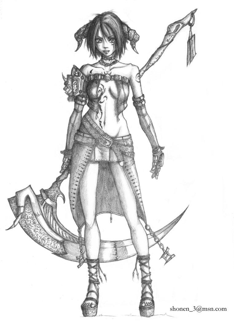 762x1049 Dark Warrior Girl By Shonen83