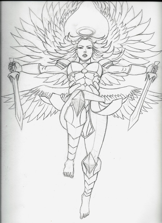 1024x1408 Angel Warrior Female By Armageddon777
