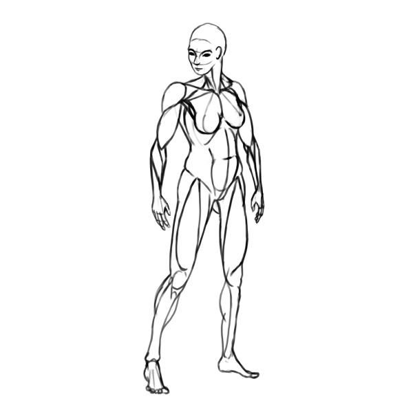 600x586 How To Design And Draw A Realistic Female Warrior