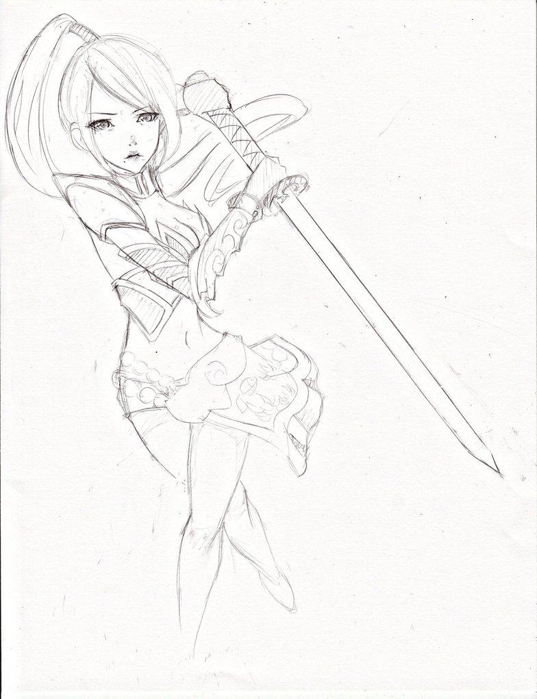784x1020 Ninja Warrior Girl () By Jellytea