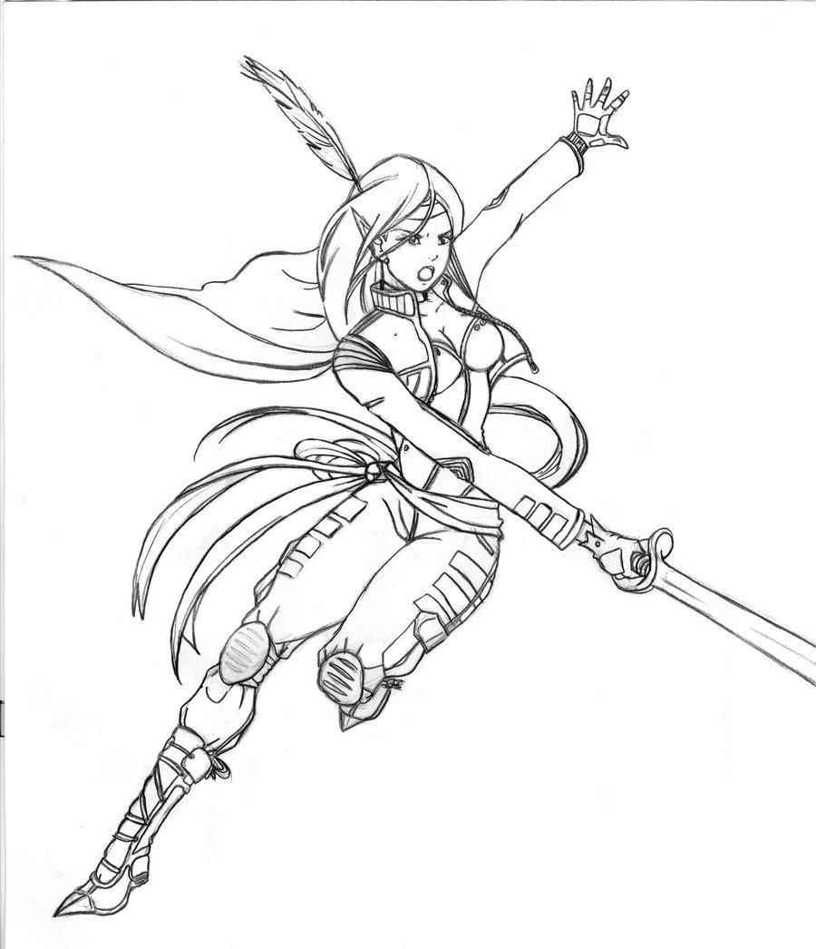 900x1046 Ninja Warrior Girl By Jusdrewit