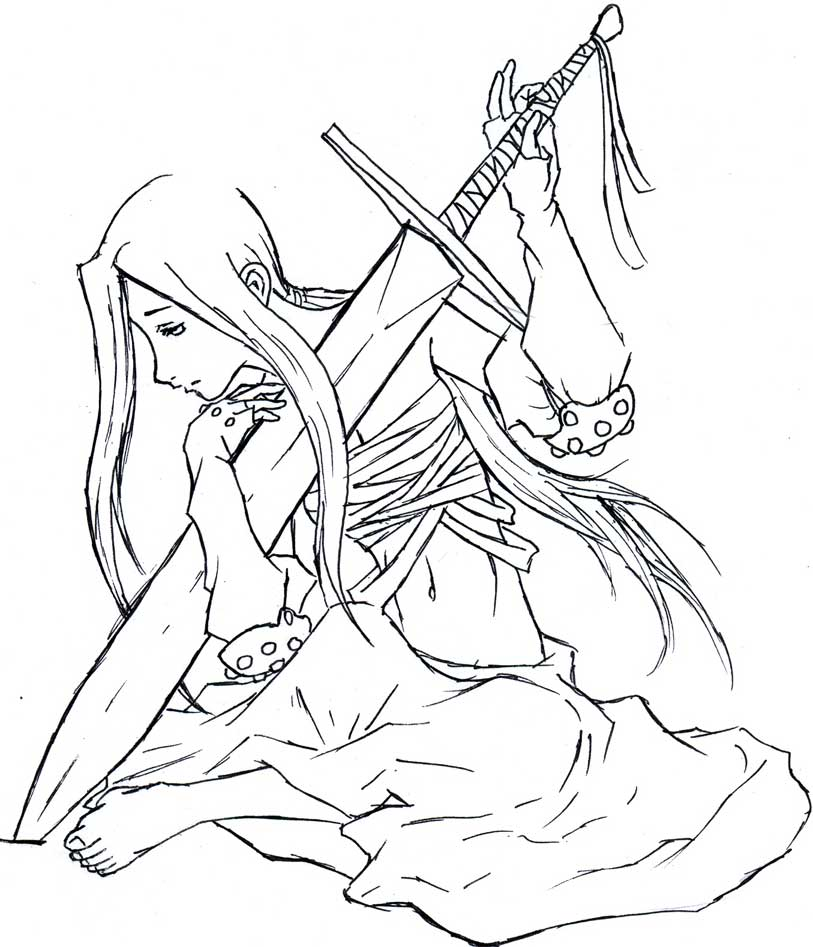 813x947 Sad Female Warrior