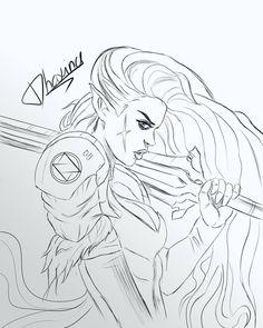 236x295 Warrior Girl Illustration