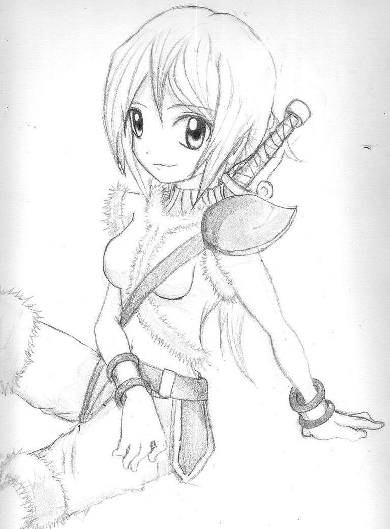 767x1041 Warrior Girl By Epik Ninjax