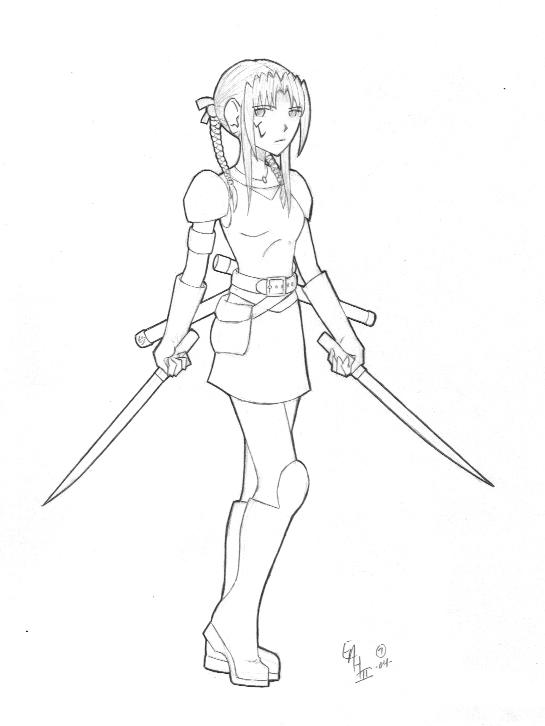 545x726 Warrior Girl By Urzu6