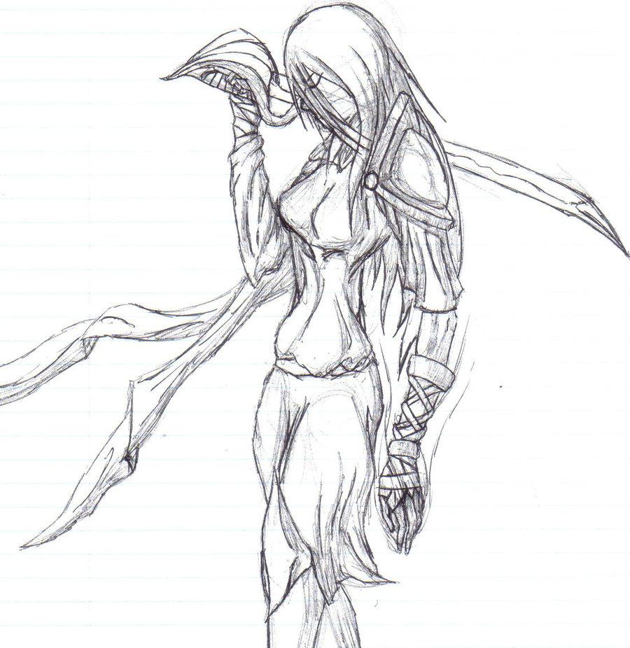 900x926 Female Warrior By Corruptedcross