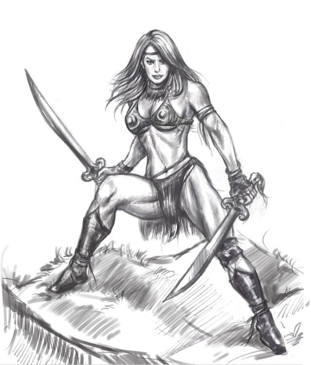 639x749 Female Amazon Warrior By Vaibhavpawar19