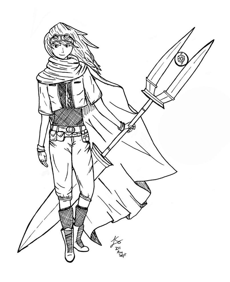 806x991 Female Steampunk Warrior By Chuugoku9023