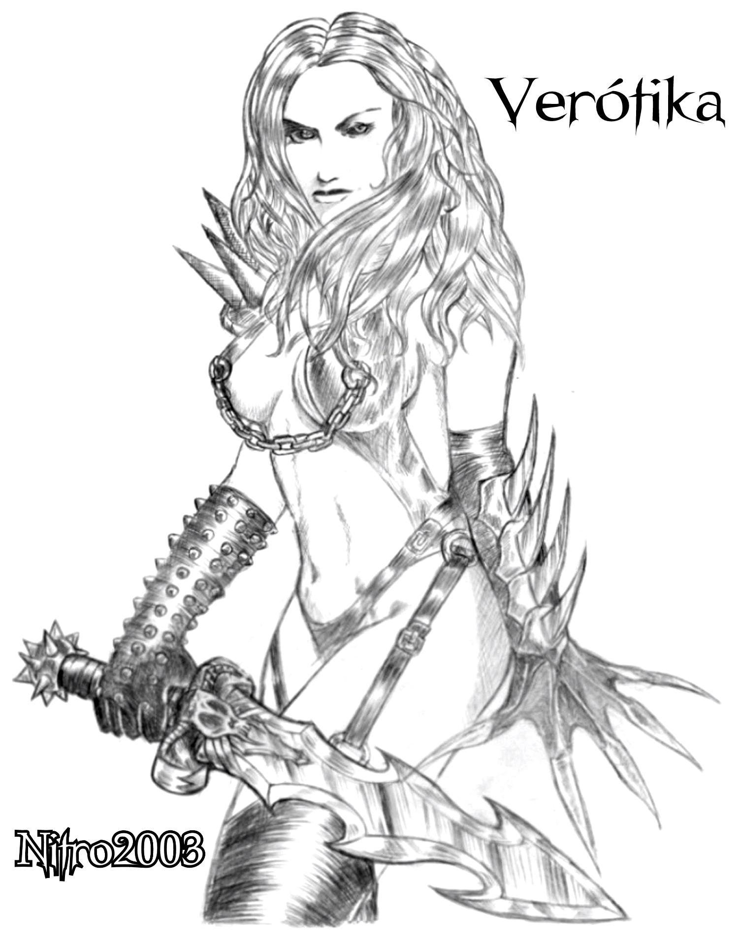 1503x1921 Female Warrior