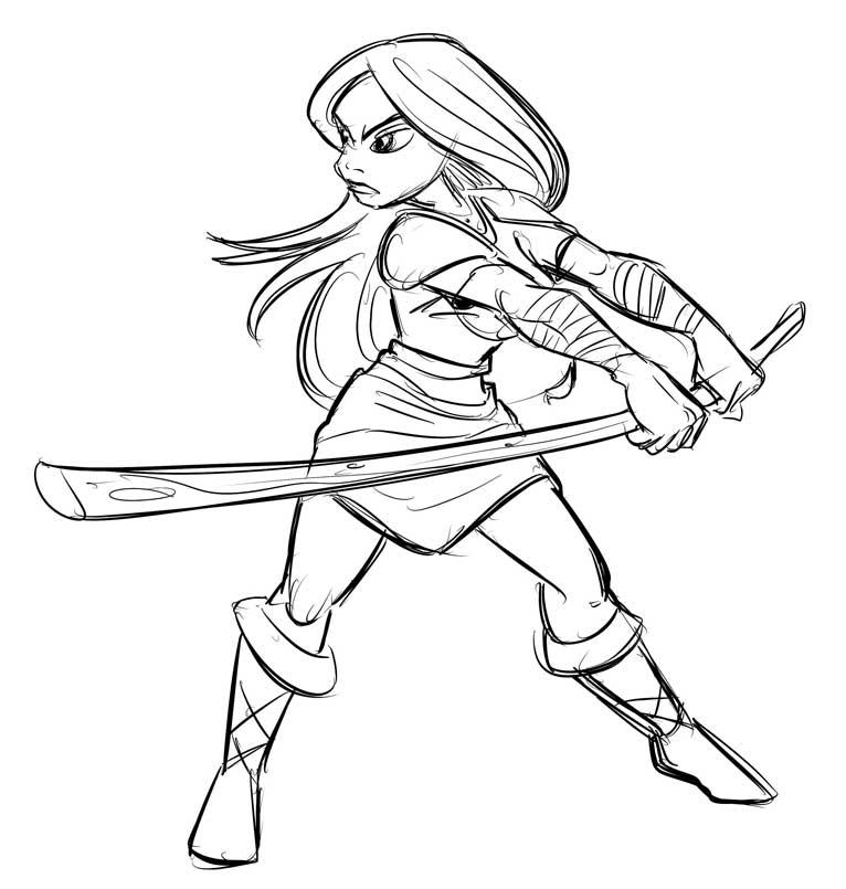 766x805 Female Warrior Rough By Superstinkwarrior
