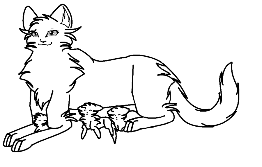 385x592 Warrior Cat Coloring Pages 900x575 Drawings DeviantArt