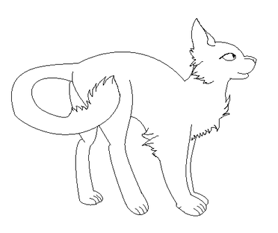 400x335 Warrior Cats Lineart 1 By Silentclawofwindclan
