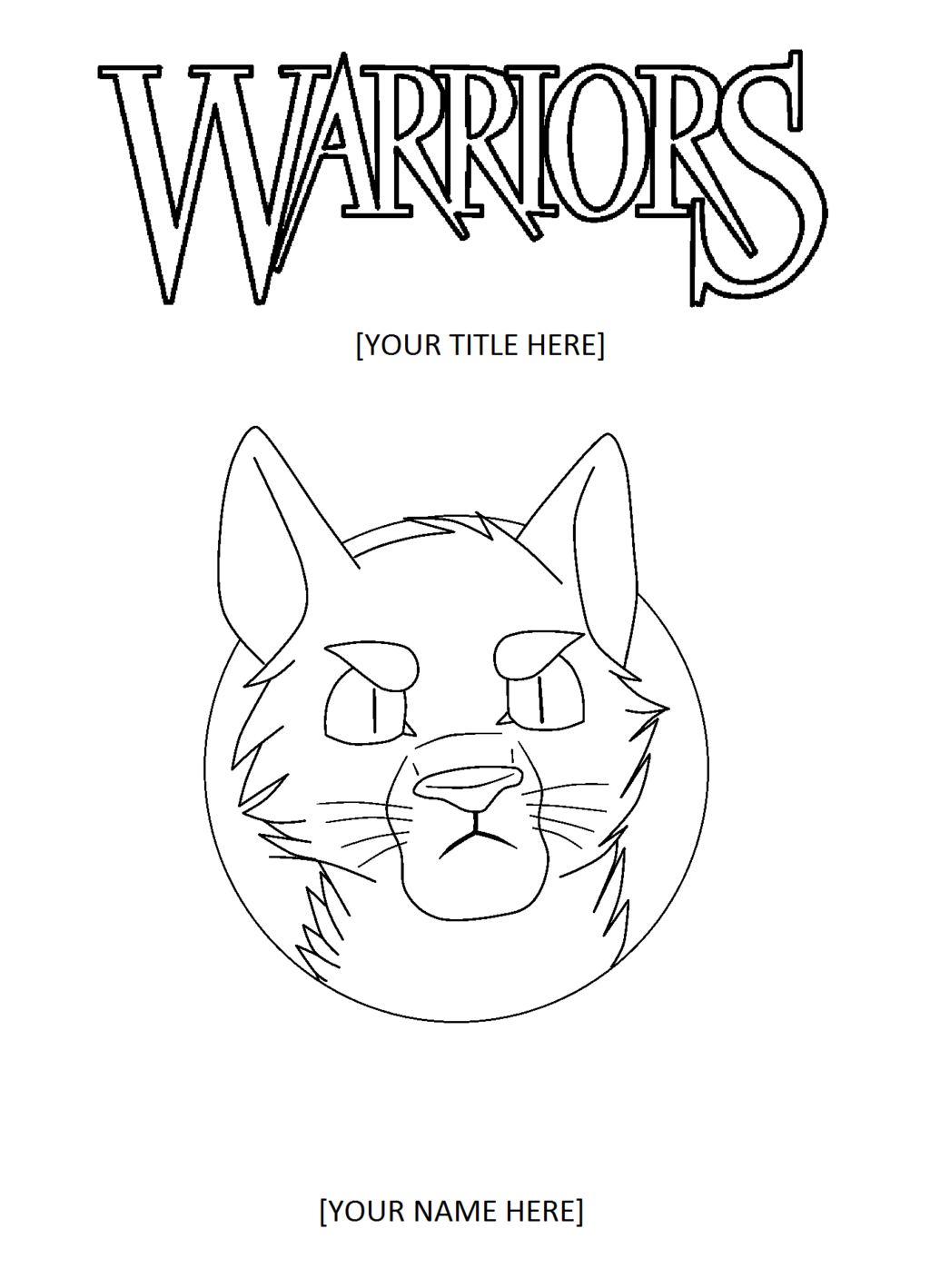 1024x1418 Fake] Warriors Cats Cover Template By Lawrenss