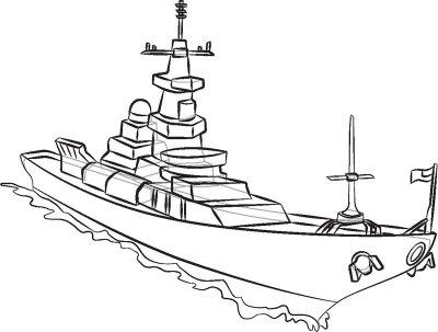 Warship Drawing