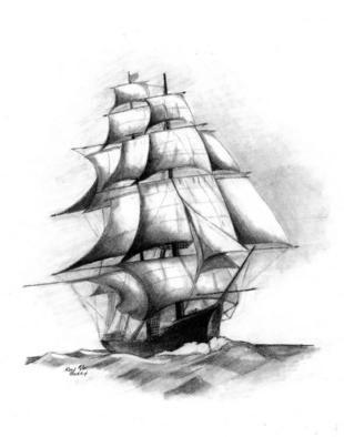 310x394 Ship Drawing Compass Mural Inspiration Ship