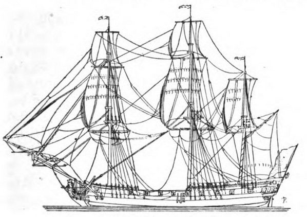 598x422 The Ship Of The Line And Her Satellites A.d.1700 1840