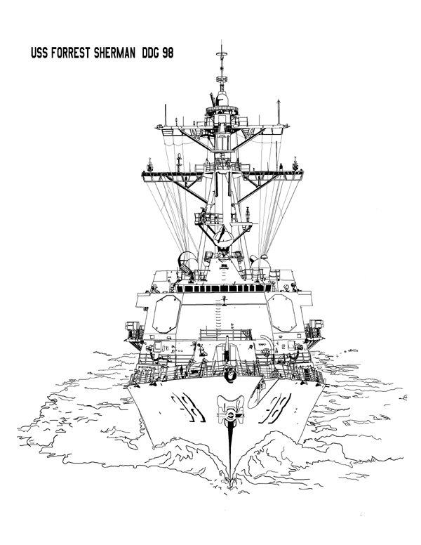 600x776 U.s.s. Forest Sherman Ddg 98 Arleigh Burke Class Guided Missile
