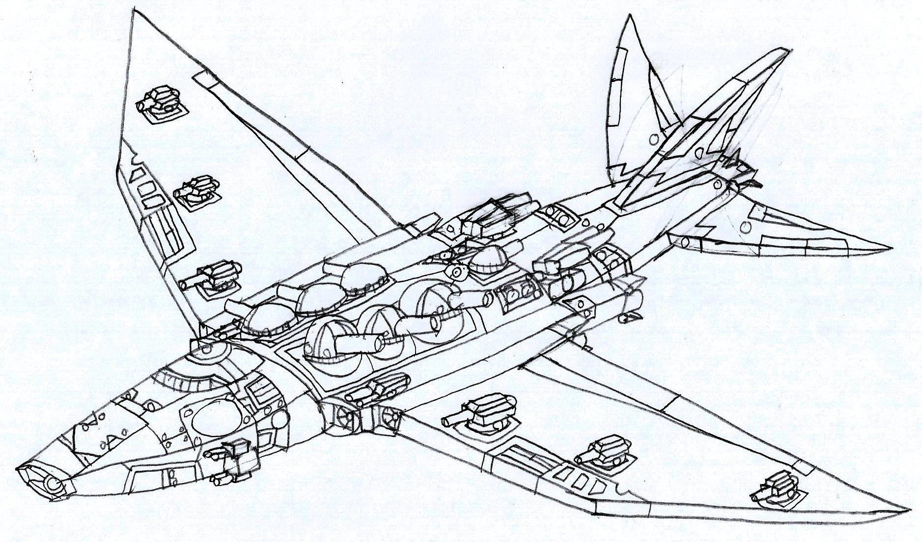 1877x1103 Detailed Warship Sketch Weasyl