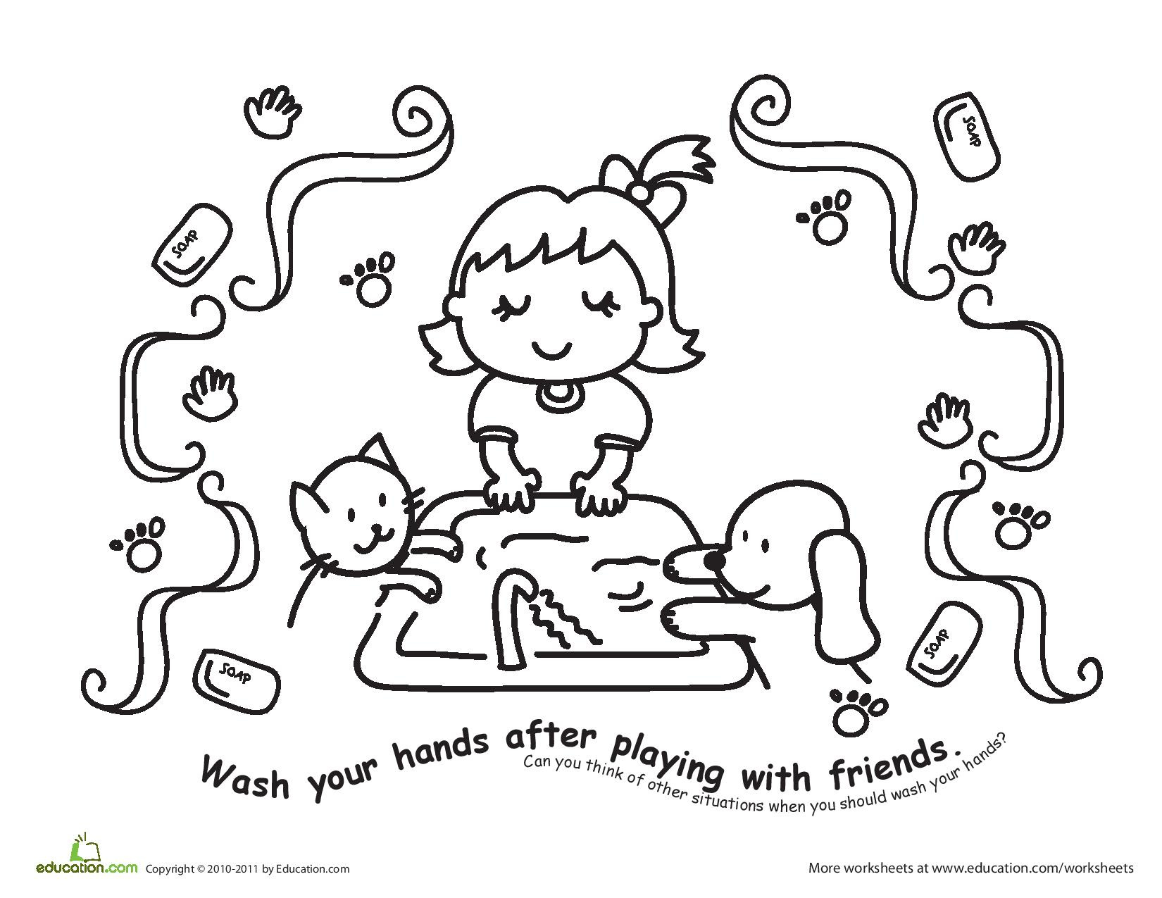 Food Safety Coloring Sheets Day Care - Worksheet & Coloring Pages