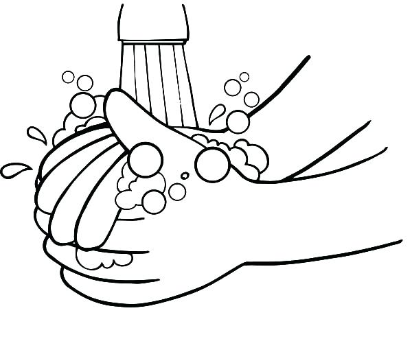 600x494 Hand Washing Coloring Pages Trend Medium Size