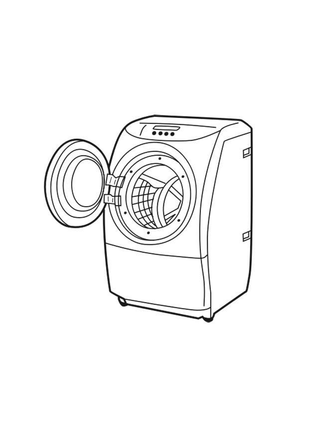 620x875 Coloring Page Washing Machine