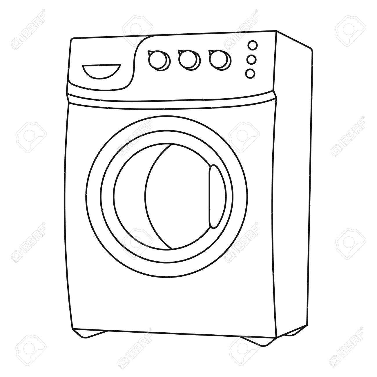 1300x1300 Household Washing Machine. Dry Cleaning Single Icon In Black
