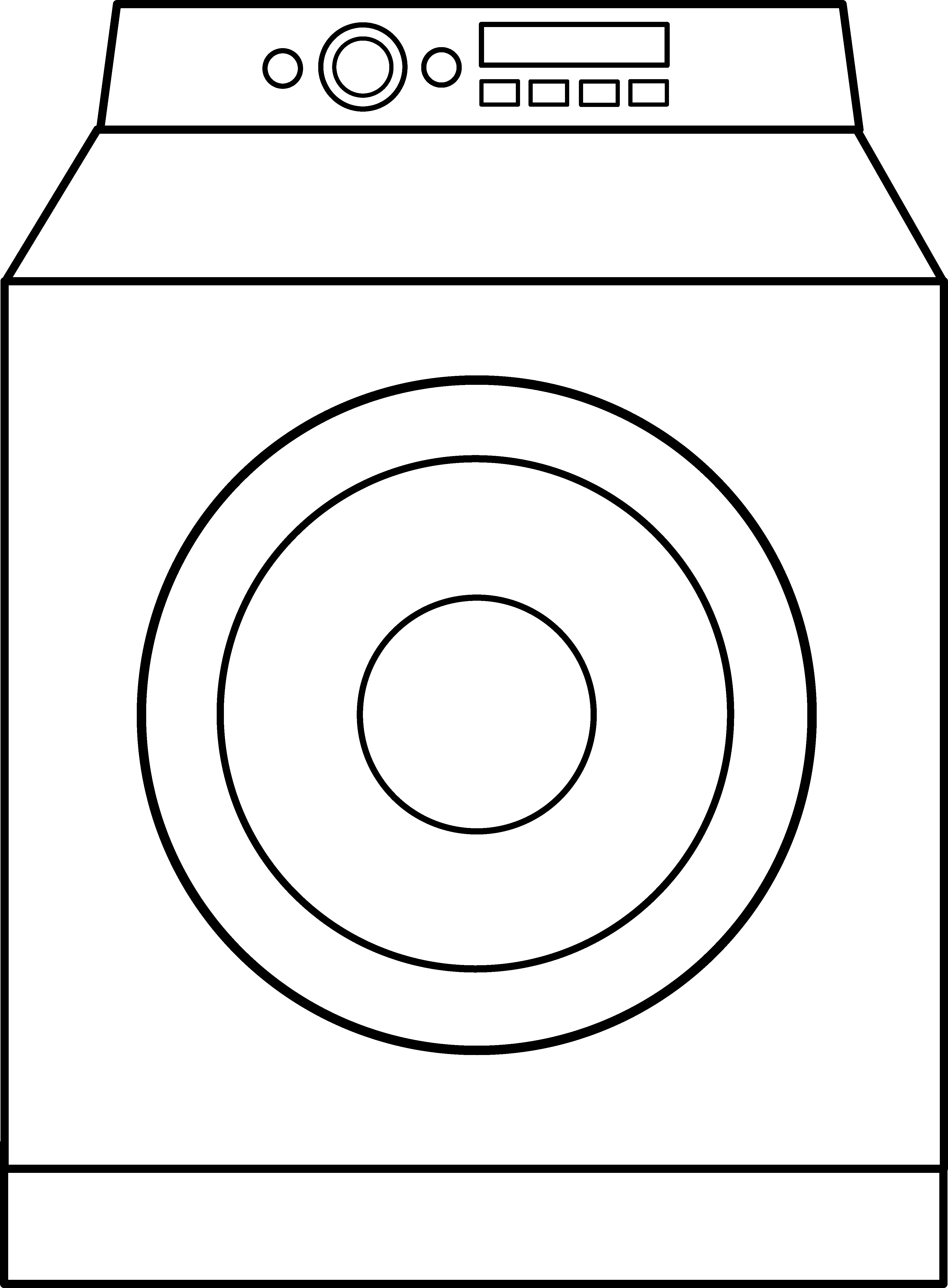 3819x5191 Washing Machine Coloring Page Washer And Dryer Coloring Pages