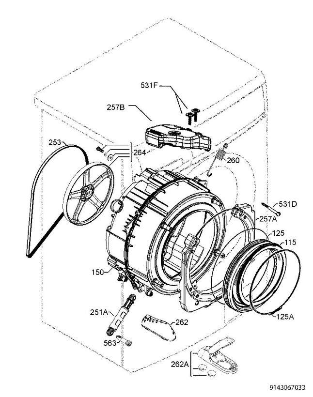 646x820 Zanussi Zwh7160p (91490665600) Washing Machine Functional Parts
